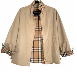 BURBERRY vintage harrington khaki jacket